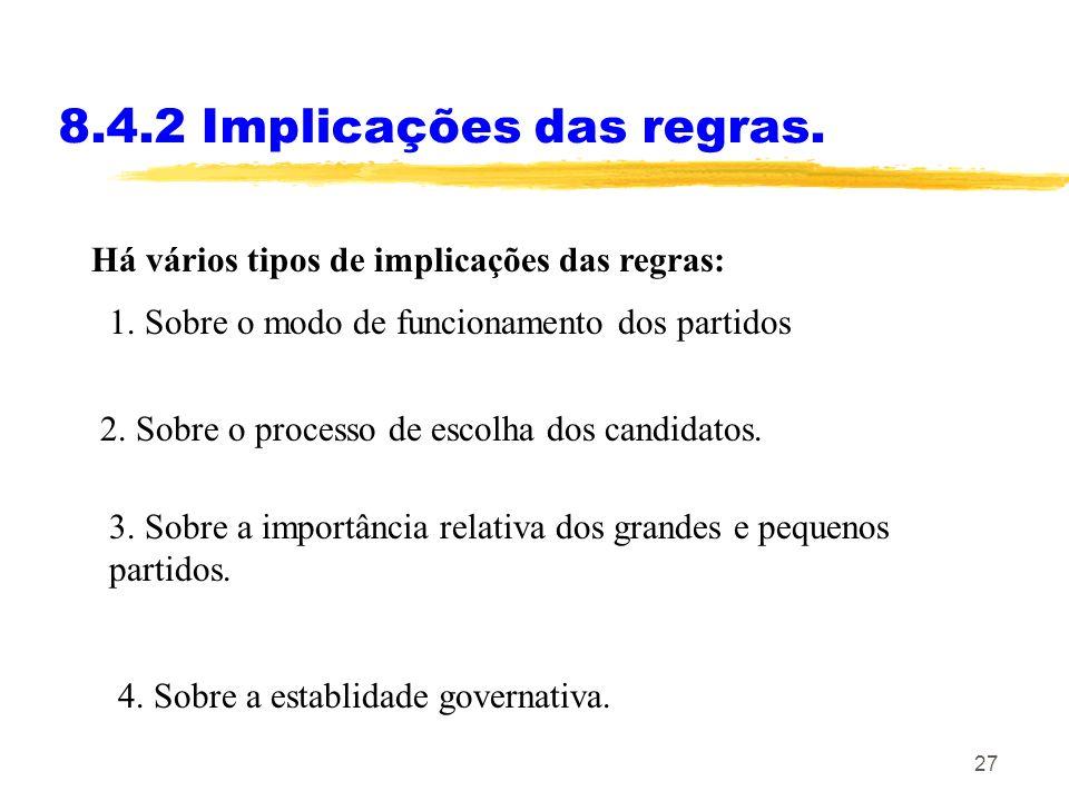 8.4.2 Implicações das regras.
