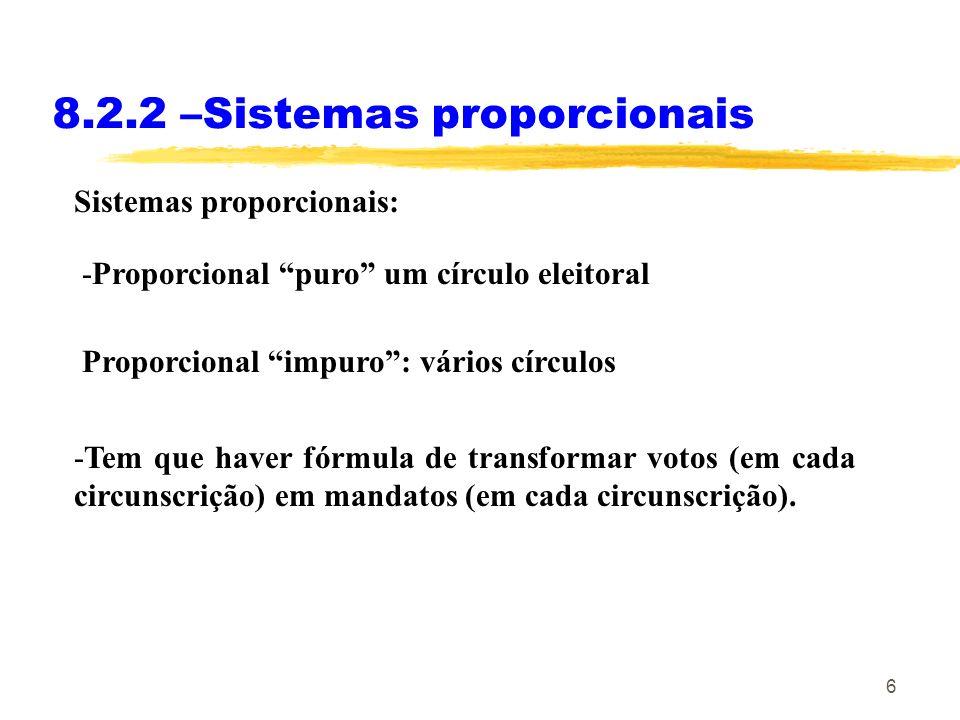 8.2.2 –Sistemas proporcionais