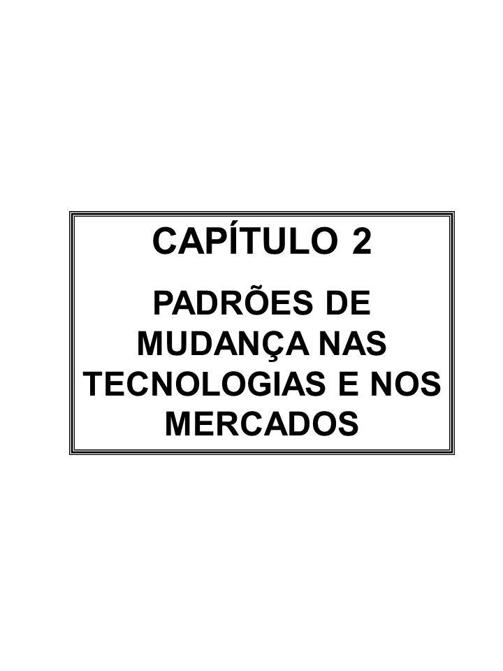 PADRÕES DE MUDANÇA NAS TECNOLOGIAS E NOS MERCADOS