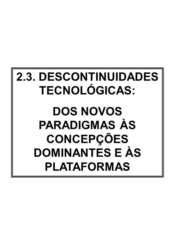2.3. DESCONTINUIDADES TECNOLÓGICAS: