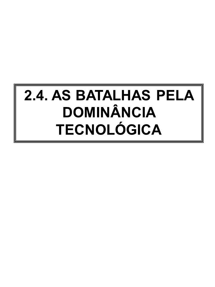2.4. AS BATALHAS PELA DOMINÂNCIA TECNOLÓGICA