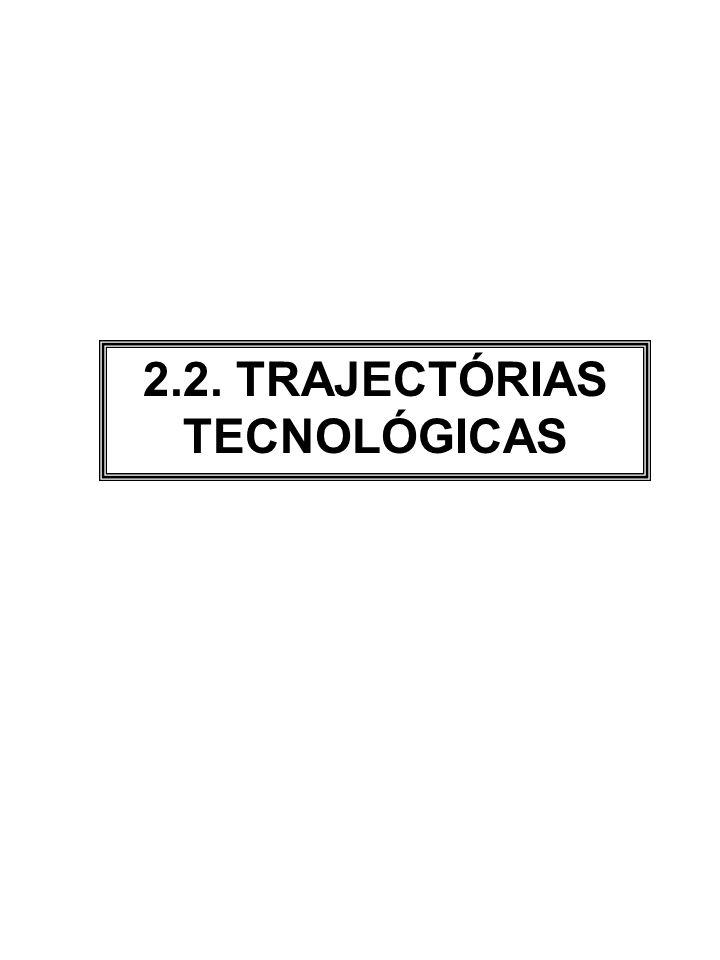 2.2. TRAJECTÓRIAS TECNOLÓGICAS