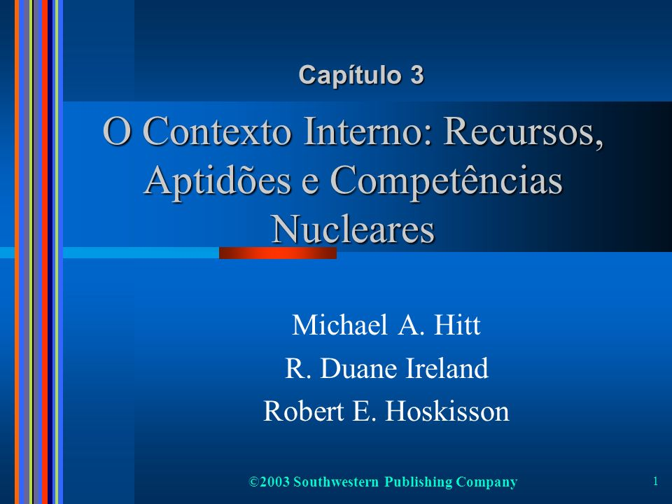 O Contexto Interno: Recursos, Aptidões e Competências Nucleares