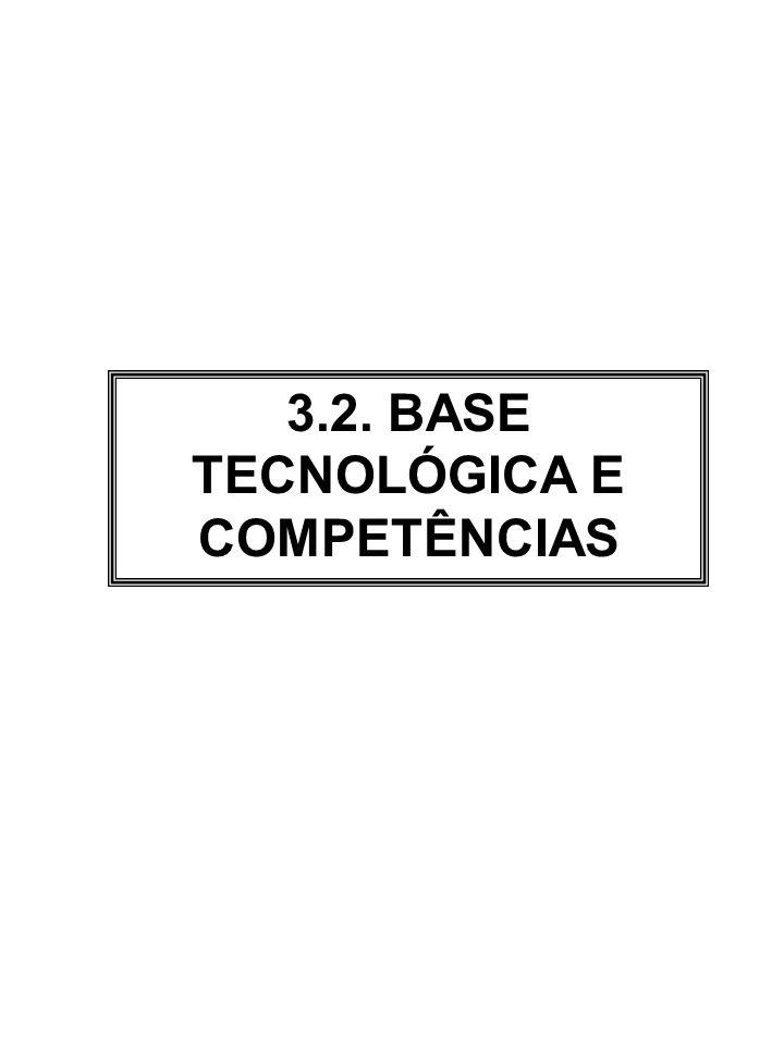 3.2. BASE TECNOLÓGICA E COMPETÊNCIAS