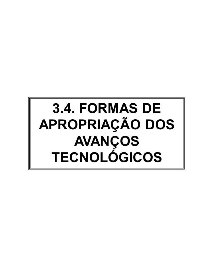 3.4. FORMAS DE APROPRIAÇÃO DOS AVANÇOS TECNOLÓGICOS