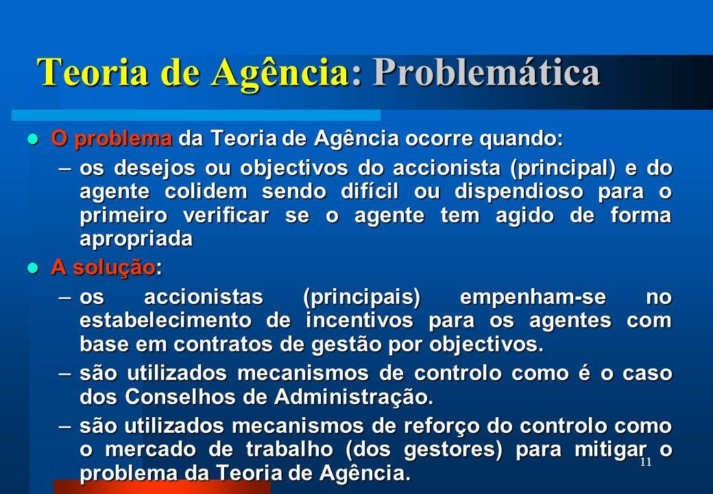 Teoria de Agência: Problemática
