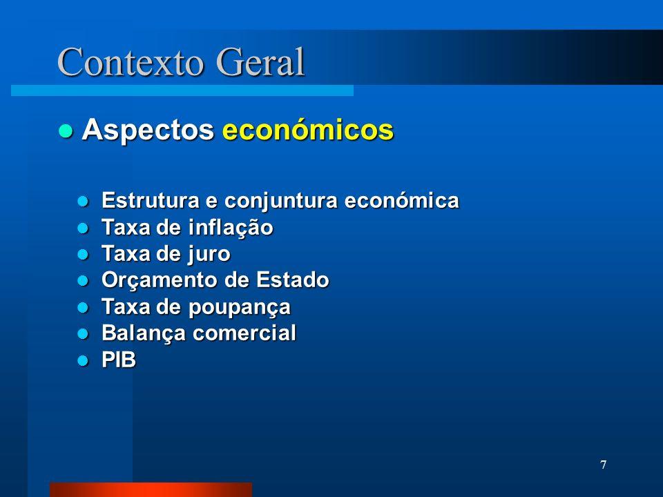 Contexto Geral Aspectos económicos Estrutura e conjuntura económica