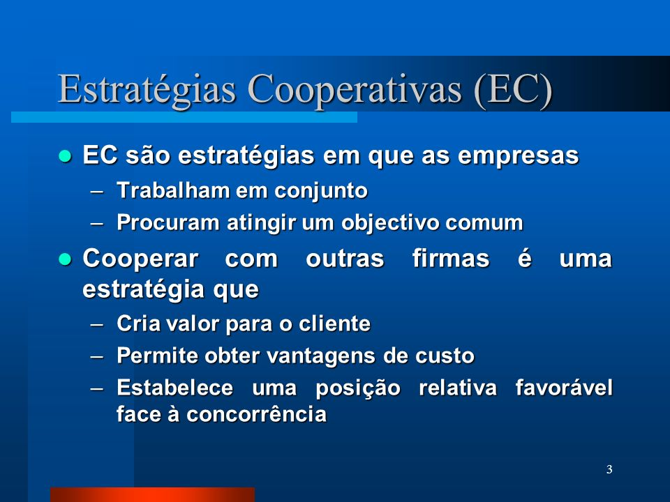 Estratégias Cooperativas (EC)