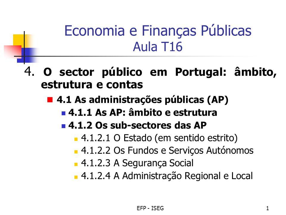 Economia e Finanças Públicas Aula T16
