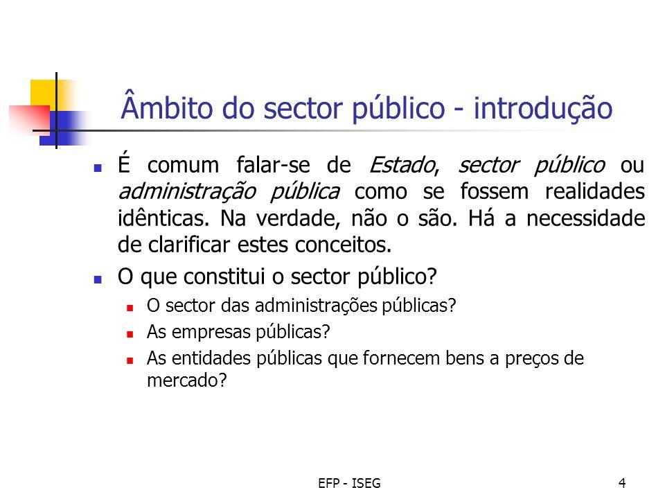 Âmbito do sector público - introdução