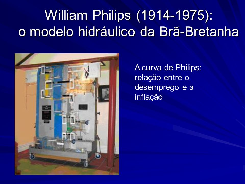 William Philips (1914-1975): o modelo hidráulico da Brã-Bretanha