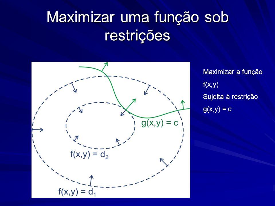Maximizar uma função sob restrições
