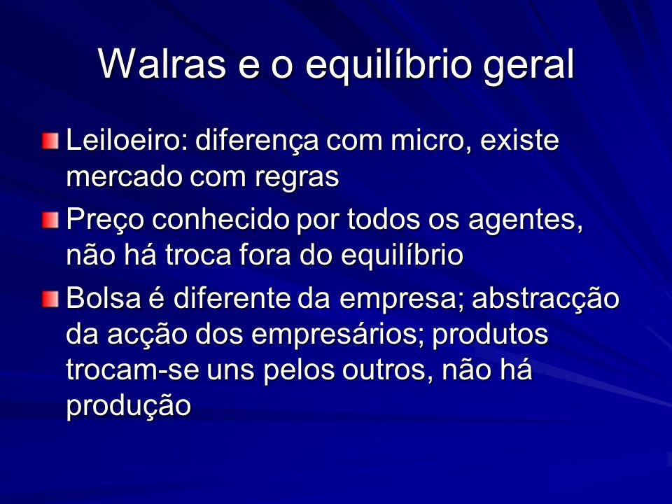 Walras e o equilíbrio geral