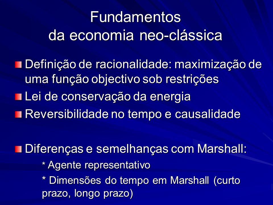 Fundamentos da economia neo-clássica