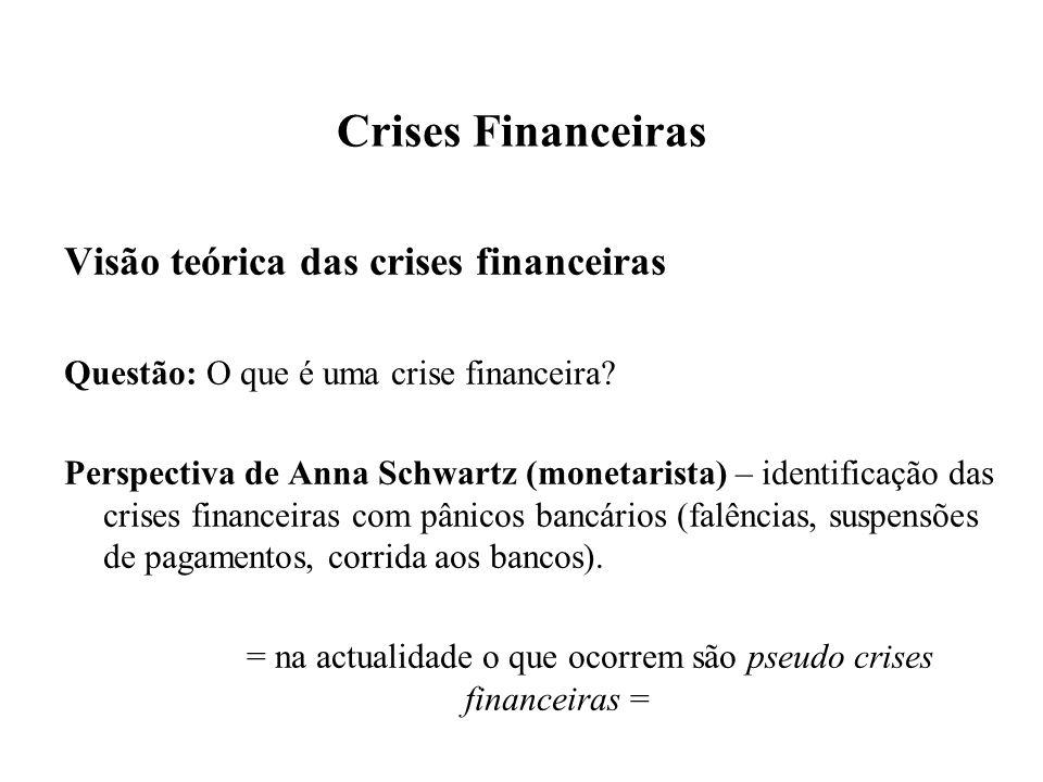 = na actualidade o que ocorrem são pseudo crises financeiras =