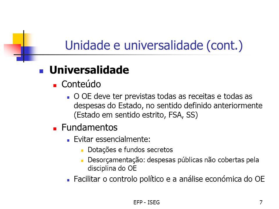 Unidade e universalidade (cont.)