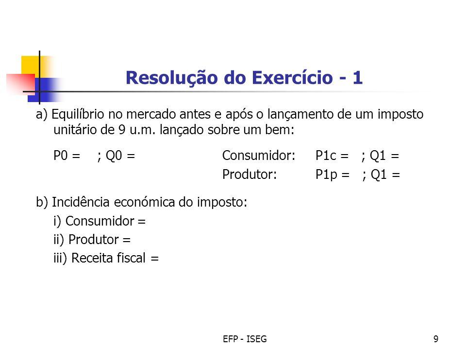 Resolução do Exercício - 1