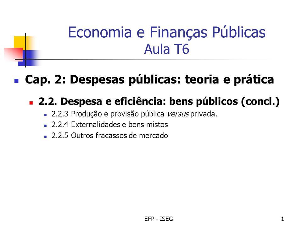 Economia e Finanças Públicas Aula T6