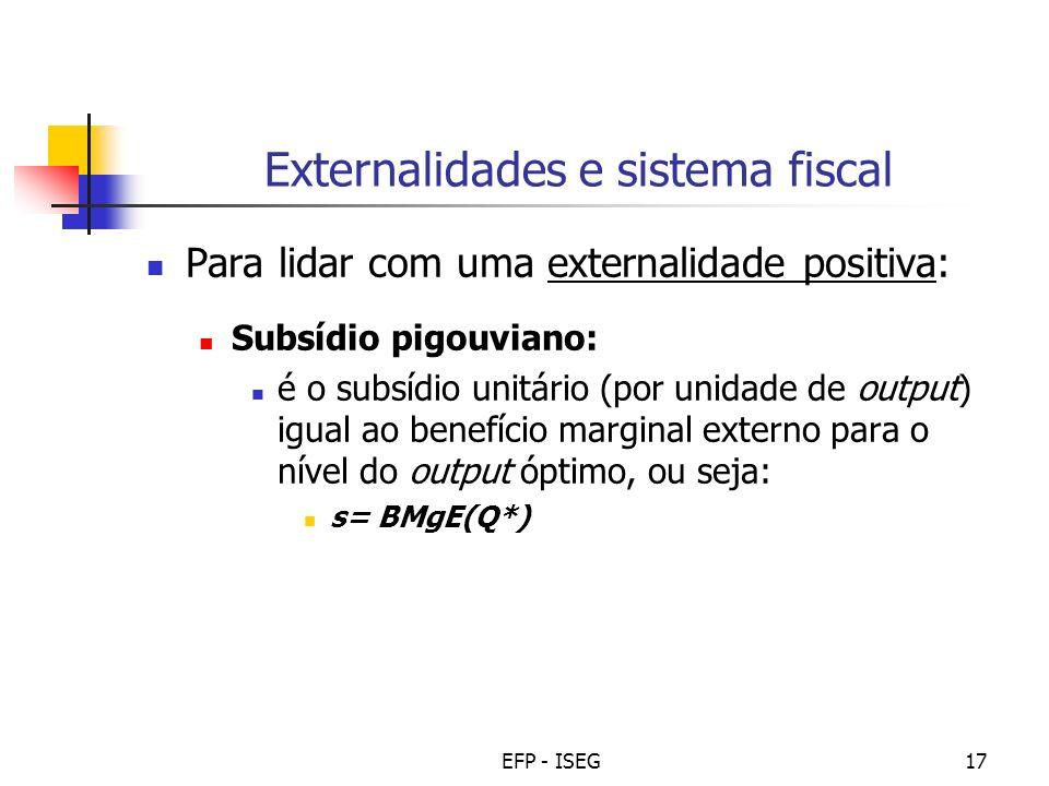 Externalidades e sistema fiscal