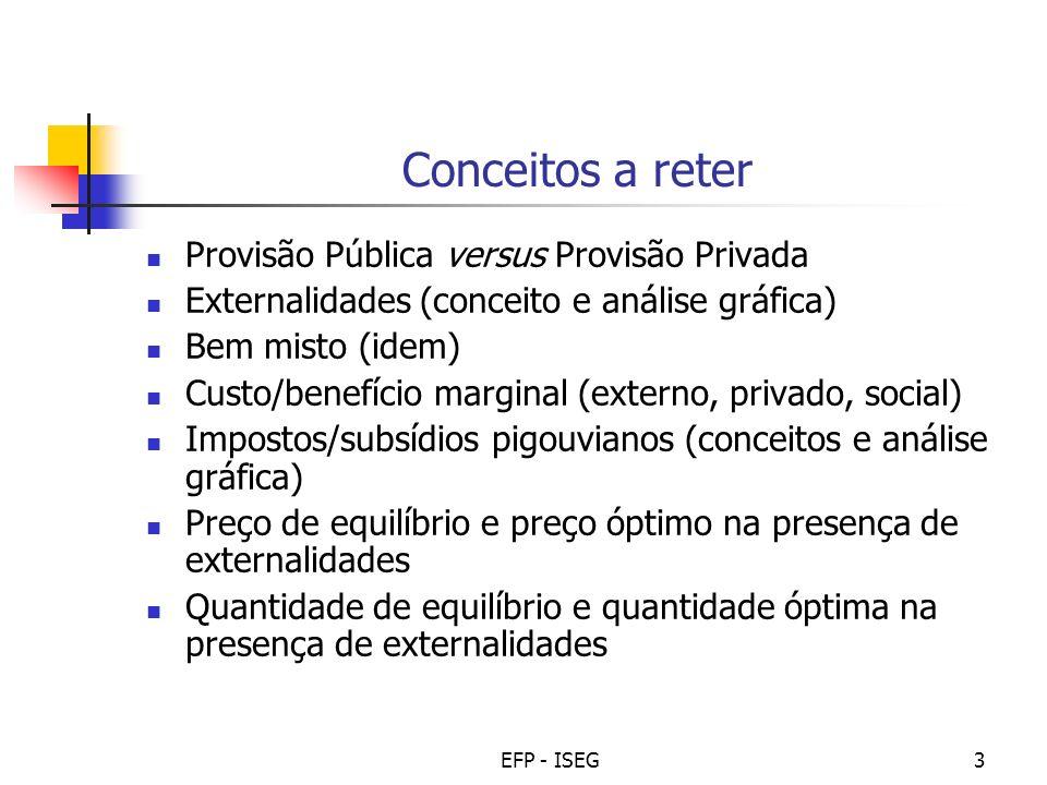 Conceitos a reter Provisão Pública versus Provisão Privada