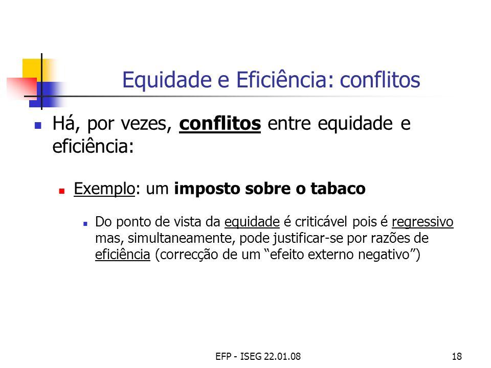 Equidade e Eficiência: conflitos