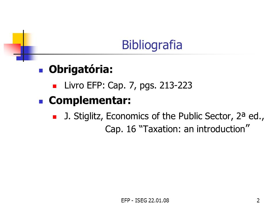 Bibliografia Obrigatória: Livro EFP: Cap. 7, pgs. 213-223