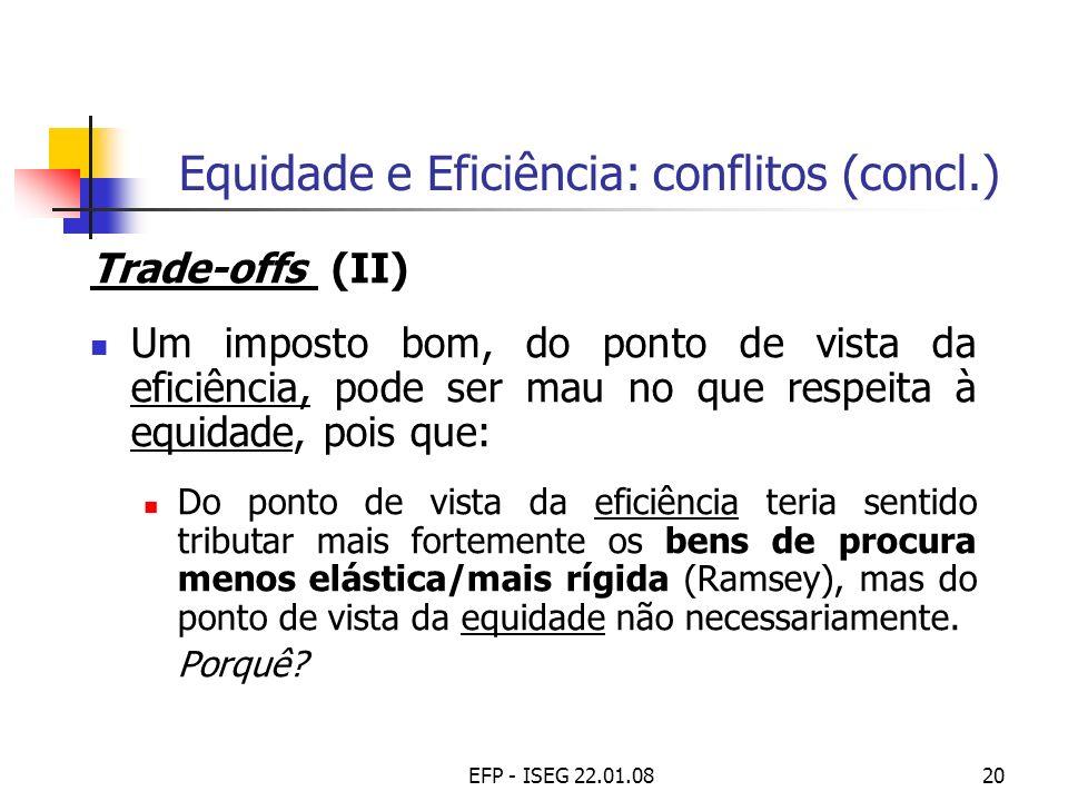 Equidade e Eficiência: conflitos (concl.)