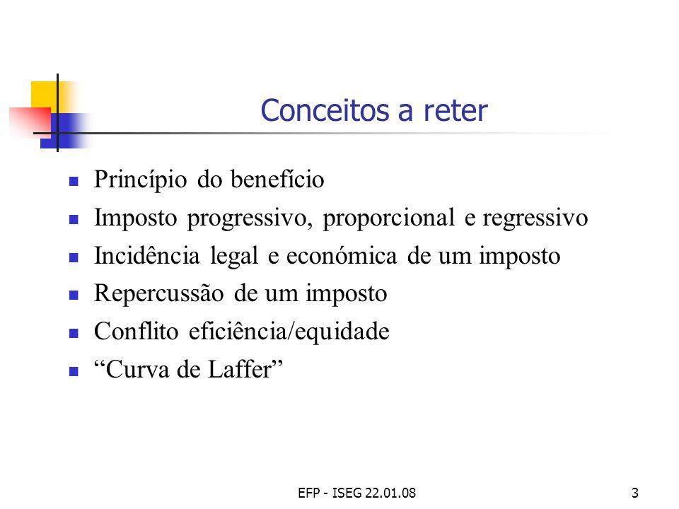 Conceitos a reter Princípio do benefício
