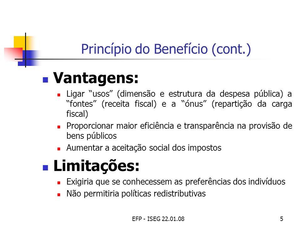 Princípio do Benefício (cont.)