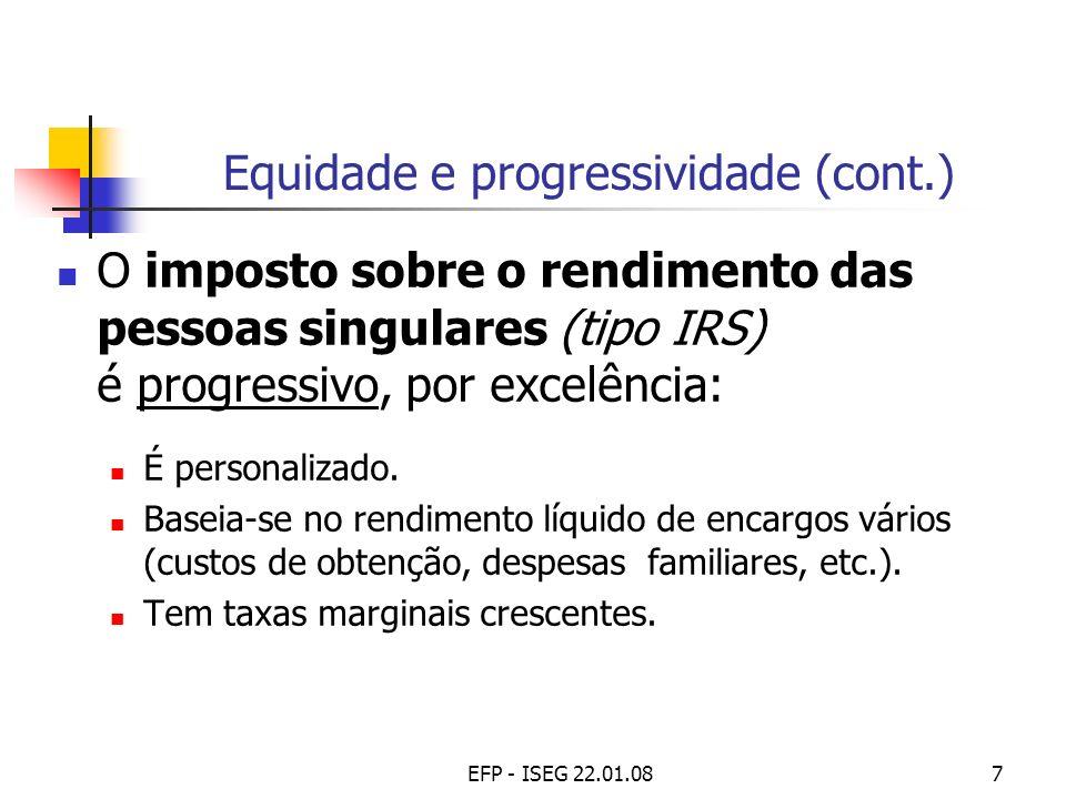 Equidade e progressividade (cont.)