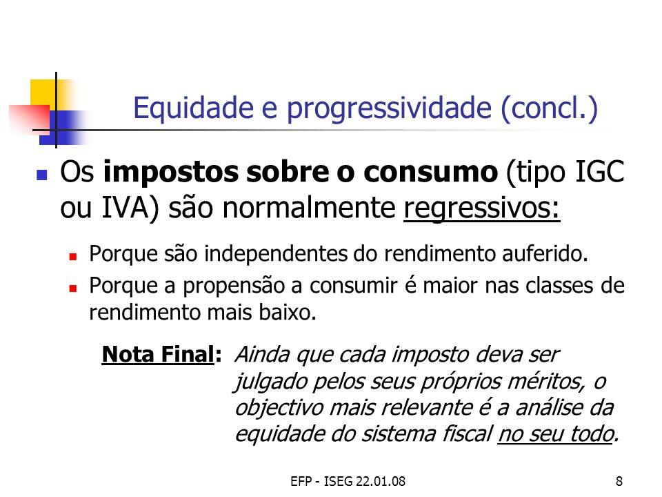 Equidade e progressividade (concl.)