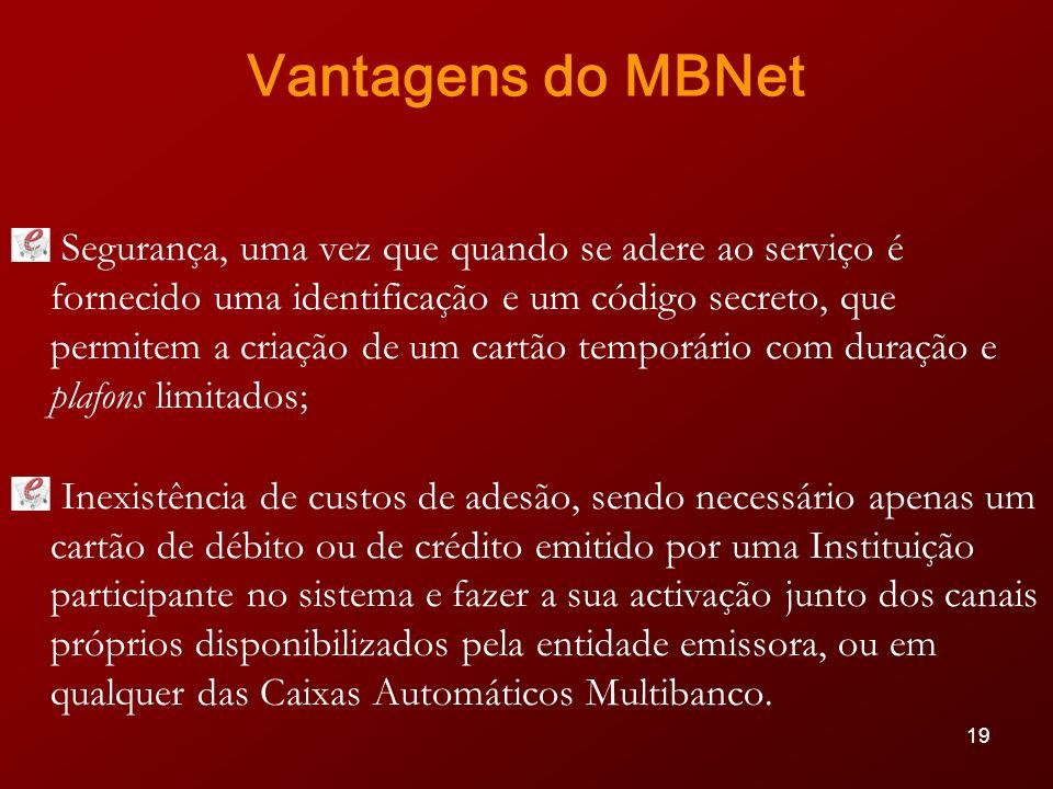 Vantagens do MBNet
