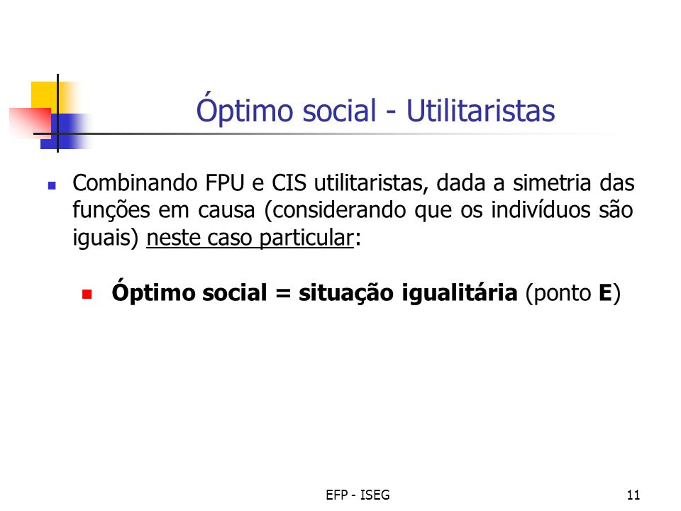 Óptimo social - Utilitaristas