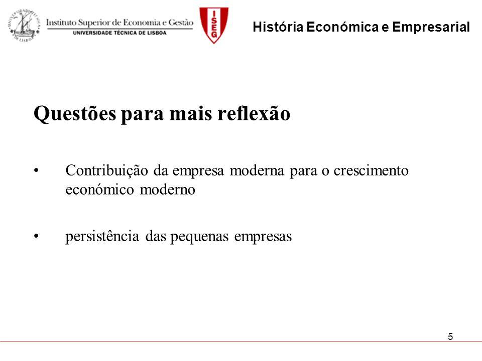 História Económica e Empresarial