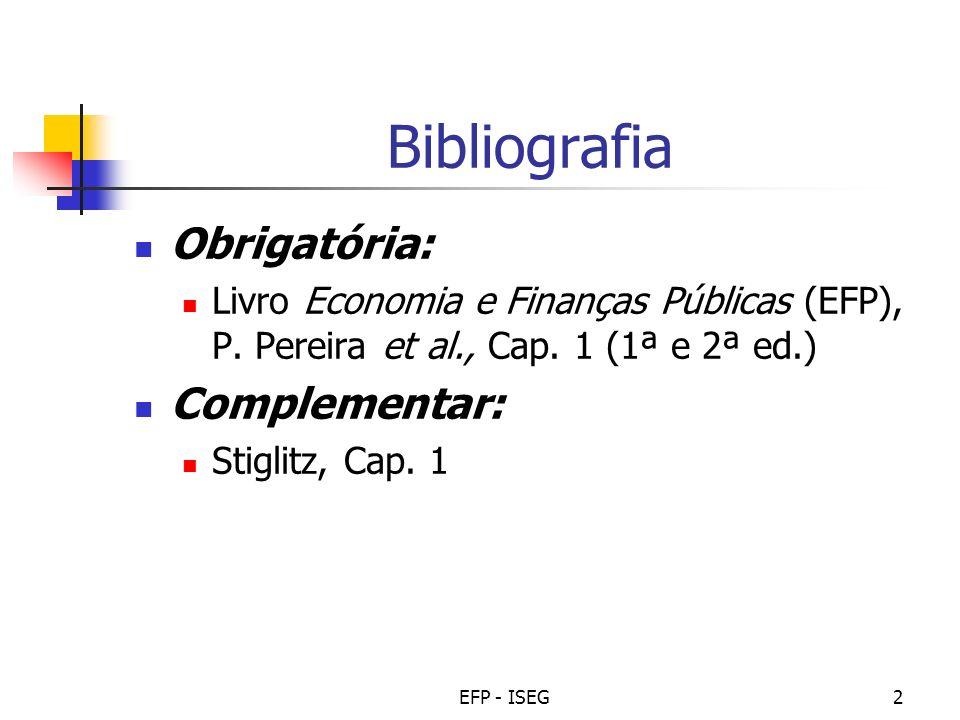 Bibliografia Obrigatória: Complementar: