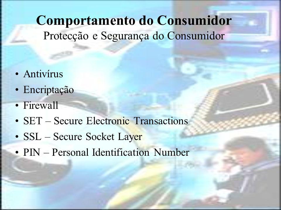 Comportamento do Consumidor Protecção e Segurança do Consumidor