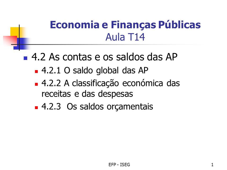 Economia e Finanças Públicas Aula T14
