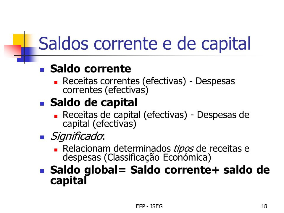 Saldos corrente e de capital