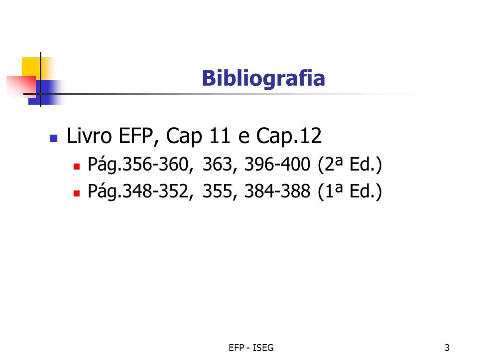 Bibliografia Livro EFP, Cap 11 e Cap.12