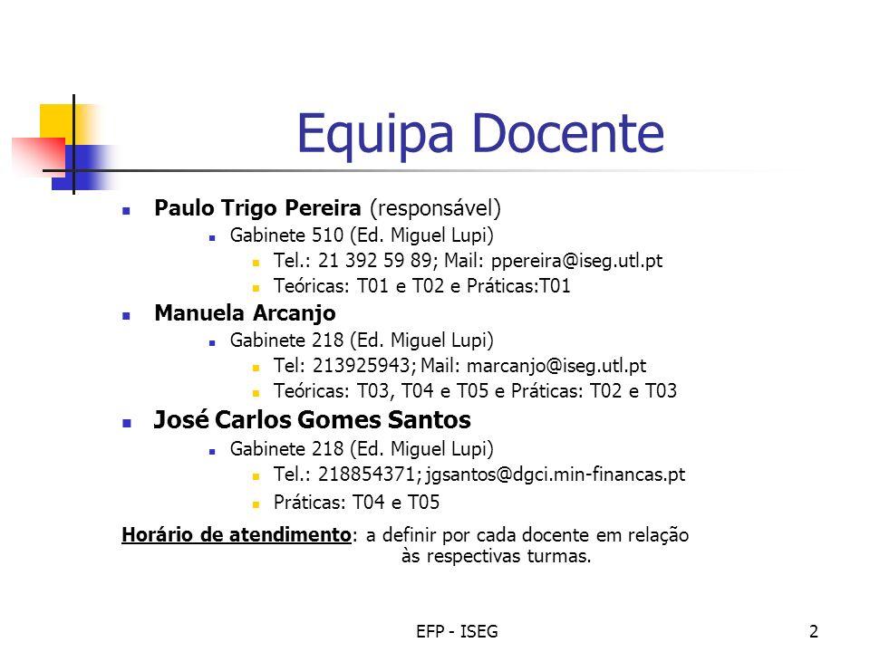 Equipa Docente José Carlos Gomes Santos