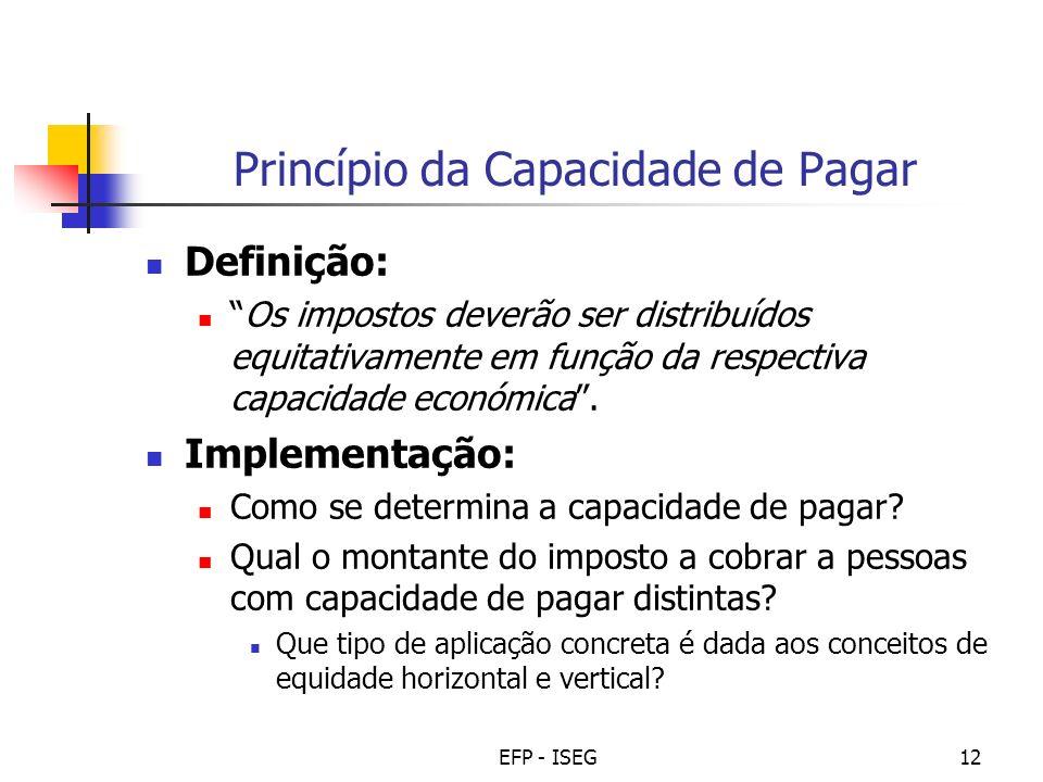 Princípio da Capacidade de Pagar