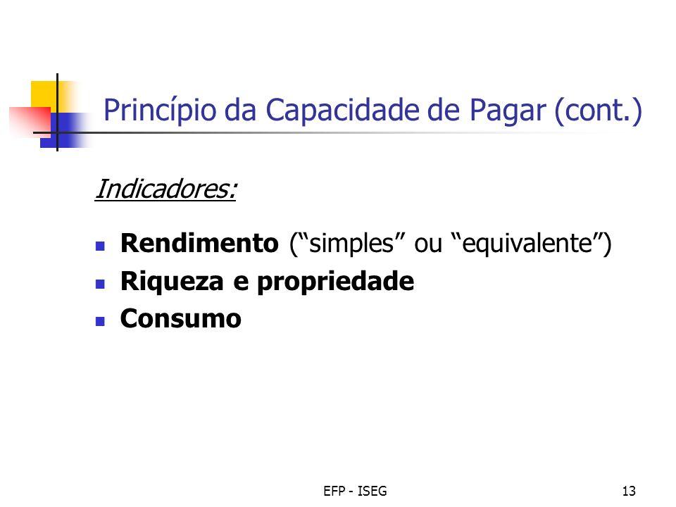 Princípio da Capacidade de Pagar (cont.)