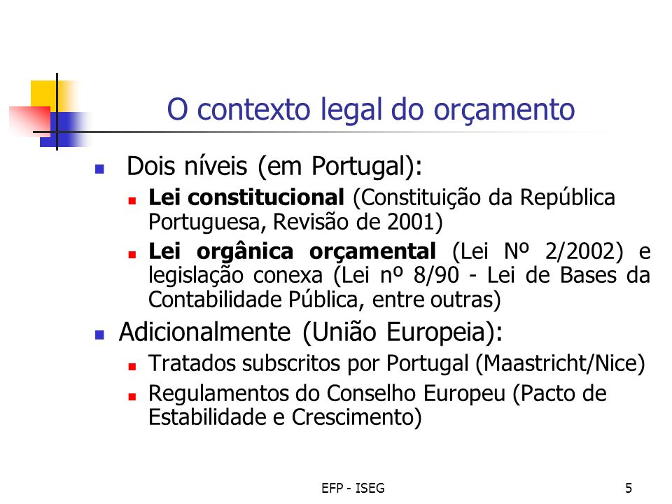 O contexto legal do orçamento