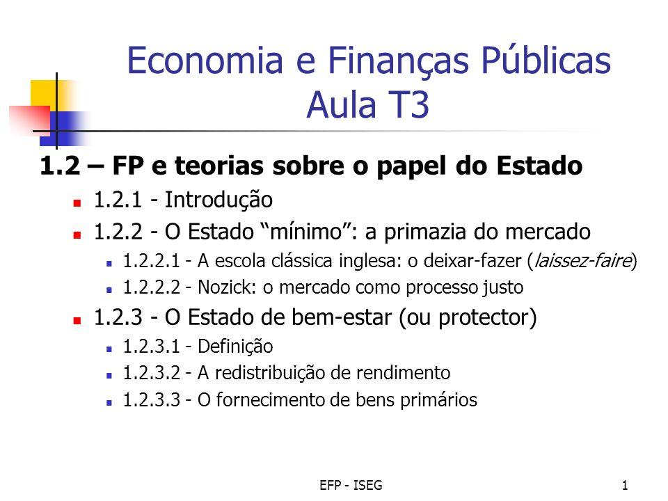 Economia e Finanças Públicas Aula T3