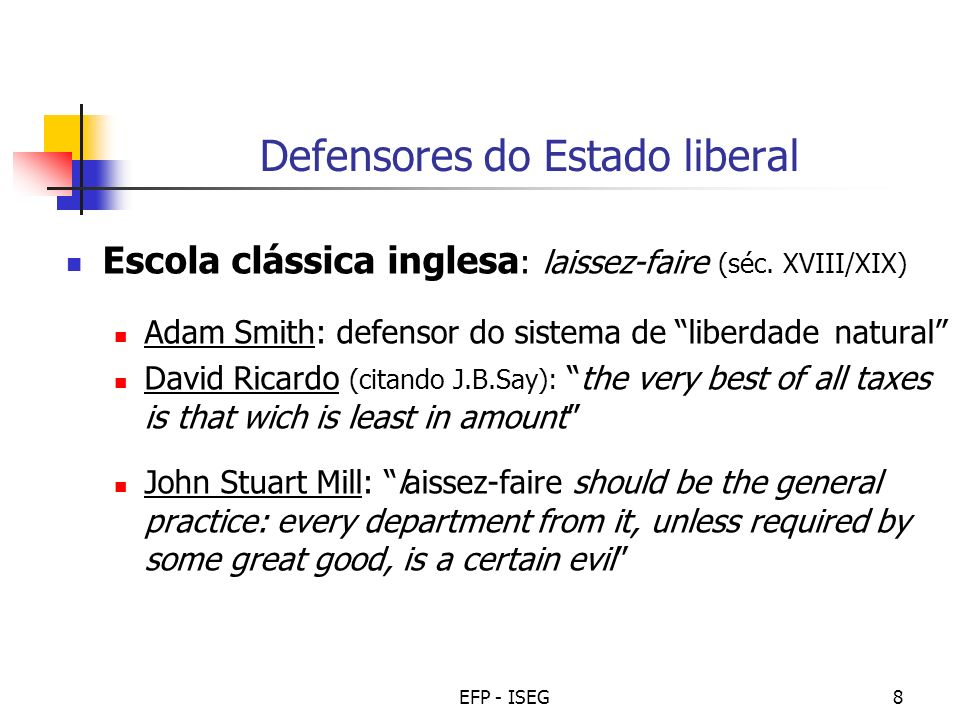 Defensores do Estado liberal