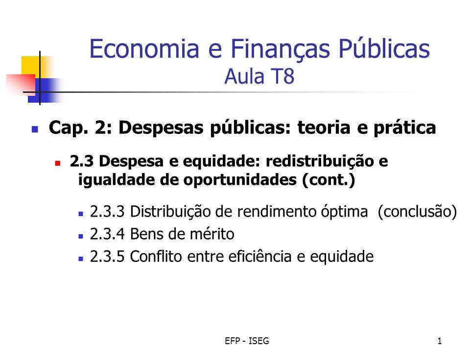 Economia e Finanças Públicas Aula T8