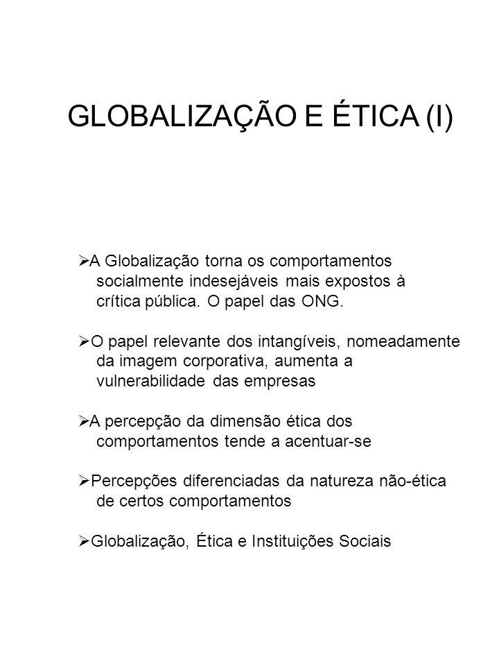 GLOBALIZAÇÃO E ÉTICA (I)