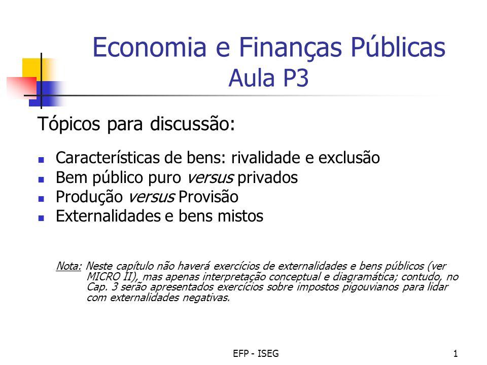 Economia e Finanças Públicas Aula P3