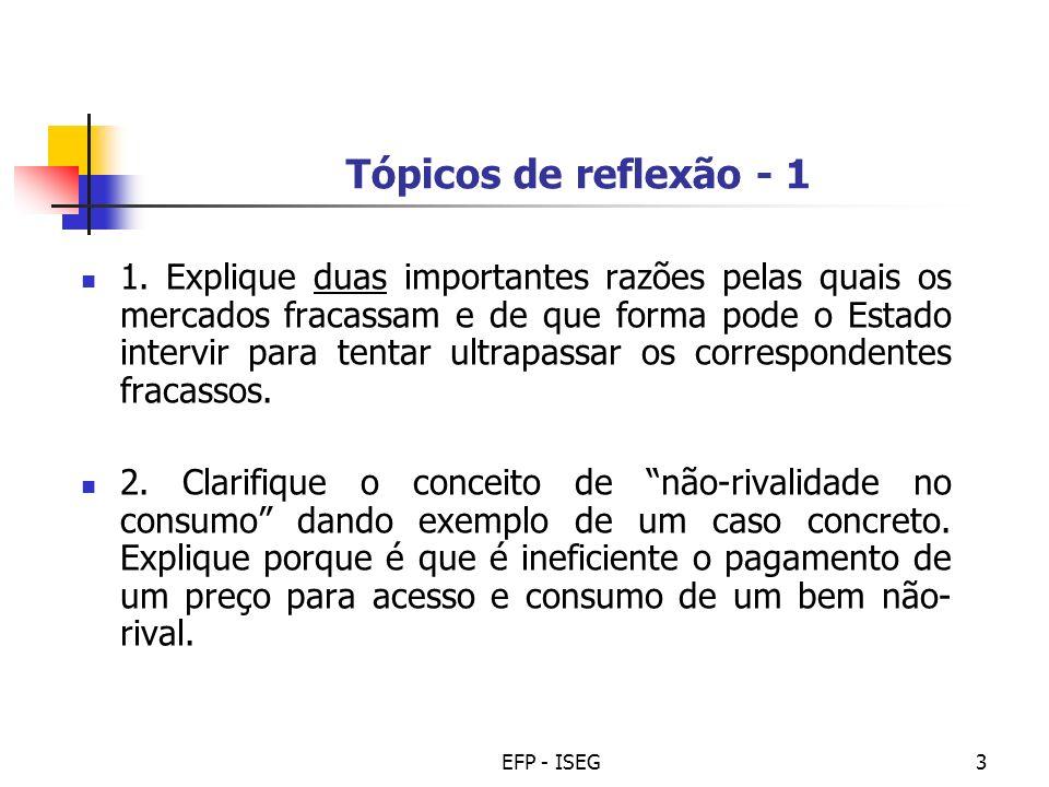 Tópicos de reflexão - 1