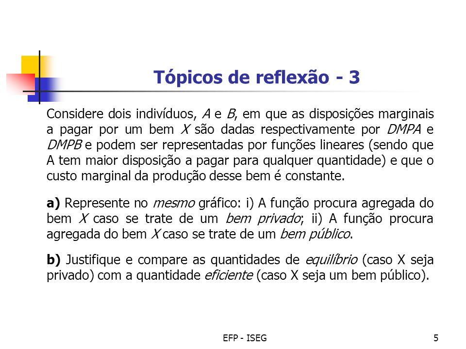 Tópicos de reflexão - 3